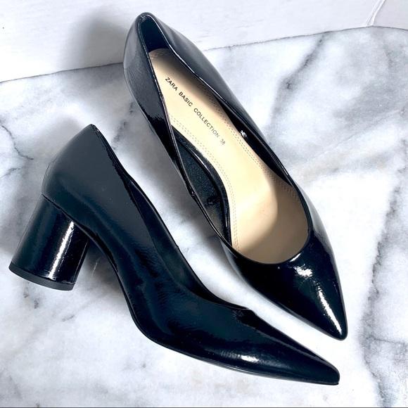 Zara Shoes | Zara Pointed Toe Black